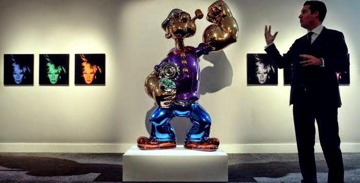 COOL Inilah Arca Karakter Popeye The Sailorman Yang Termahal Di Dunia