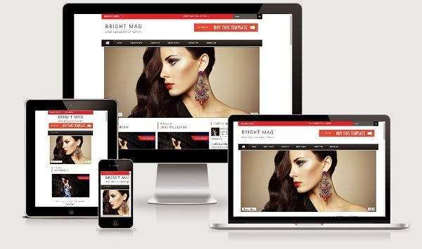Bright Mag Responsive Blogger Template
