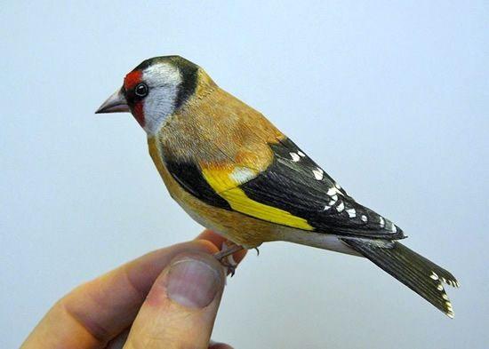 فنان يصنع طيور من الورق واقعية بشكل لا يصدق  Papercraft-birds3%5B1%5D