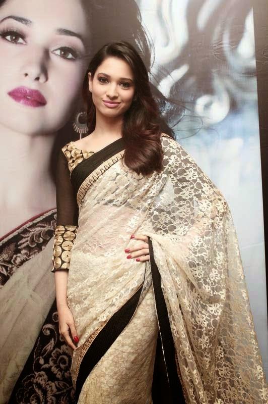 Humshakals Fame Heroine Tamanna Bhatia Latest hot HD Wallpapers in Saree
