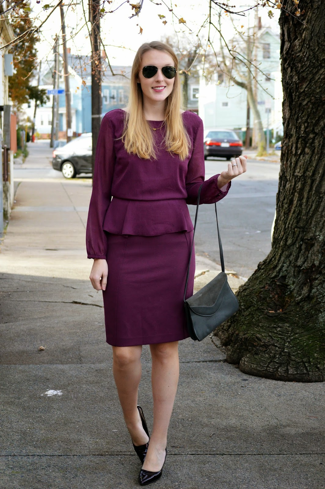 women's fall fashion monochrome magenta