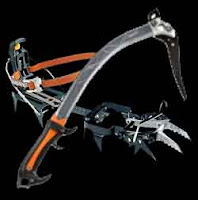 ice axe and crampon