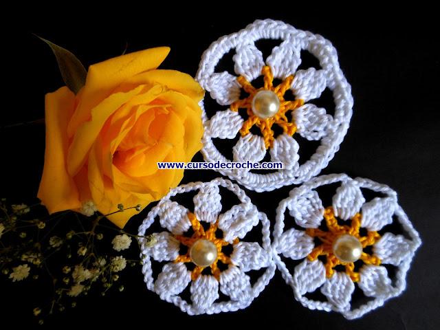 flores margaridas simples aprendercroche dvd edinir-croche loja