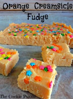 Easy Orange Creamsicle Fudge
