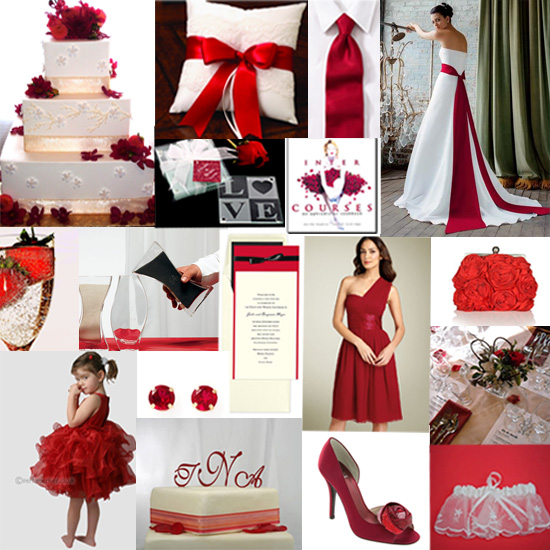 Red And Black Wedding Decoration Ideas