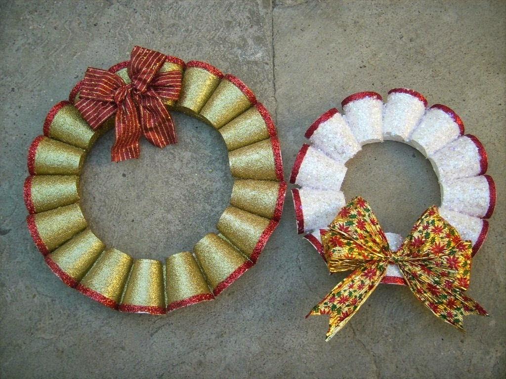 Ceip f lix hern ndez barrera adornos de navidad con for Puertas de material reciclado