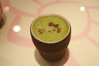Hello Kitty face green tea