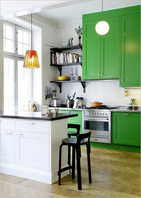 Kolorowe fronty kuchenne - soczyste inspiracje.