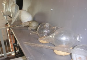 Repro_glassware_Priestley_House_laboratory