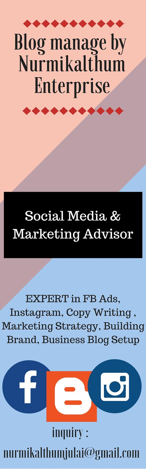 I am a Social Media & Marketing Advisor