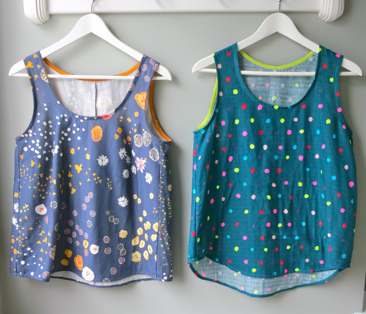 mmmcrafts: in which I sew a large number of woven tanks (or ...