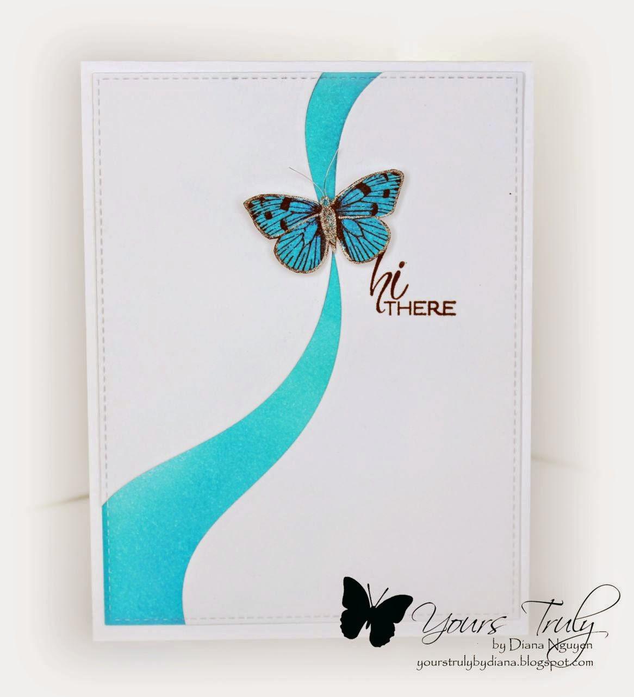 Diana Nguyen, Hero Arts, butterfly, Verve