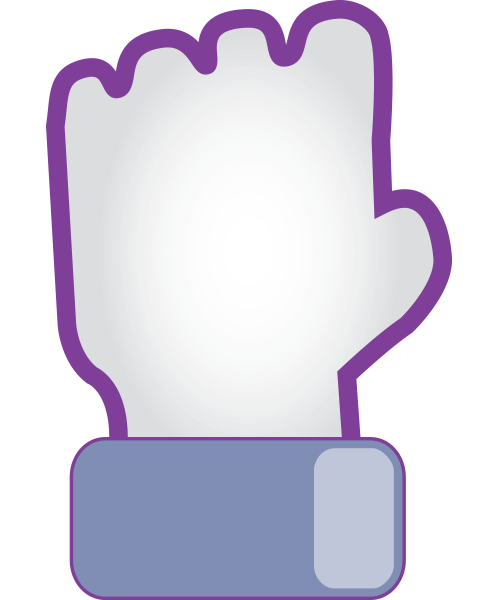 Clenched Fist Facebook Emoticon