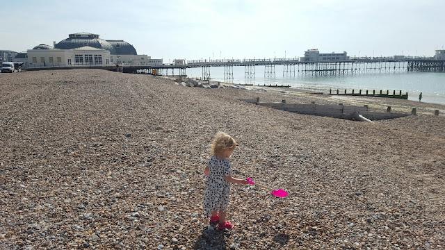 Worthing beach and pier