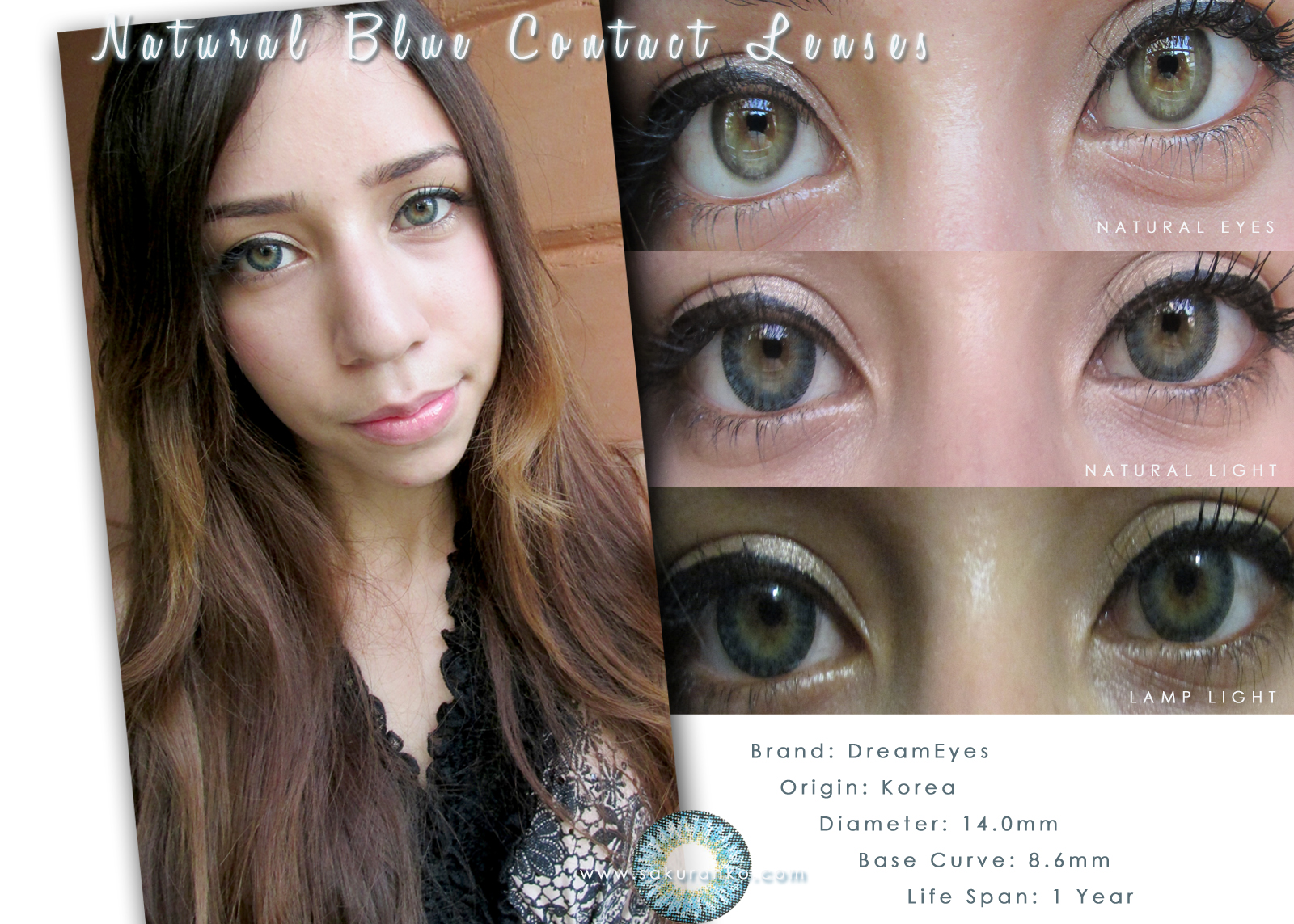 Natural Eye Color Contacts a Natural Dolly Color Eye