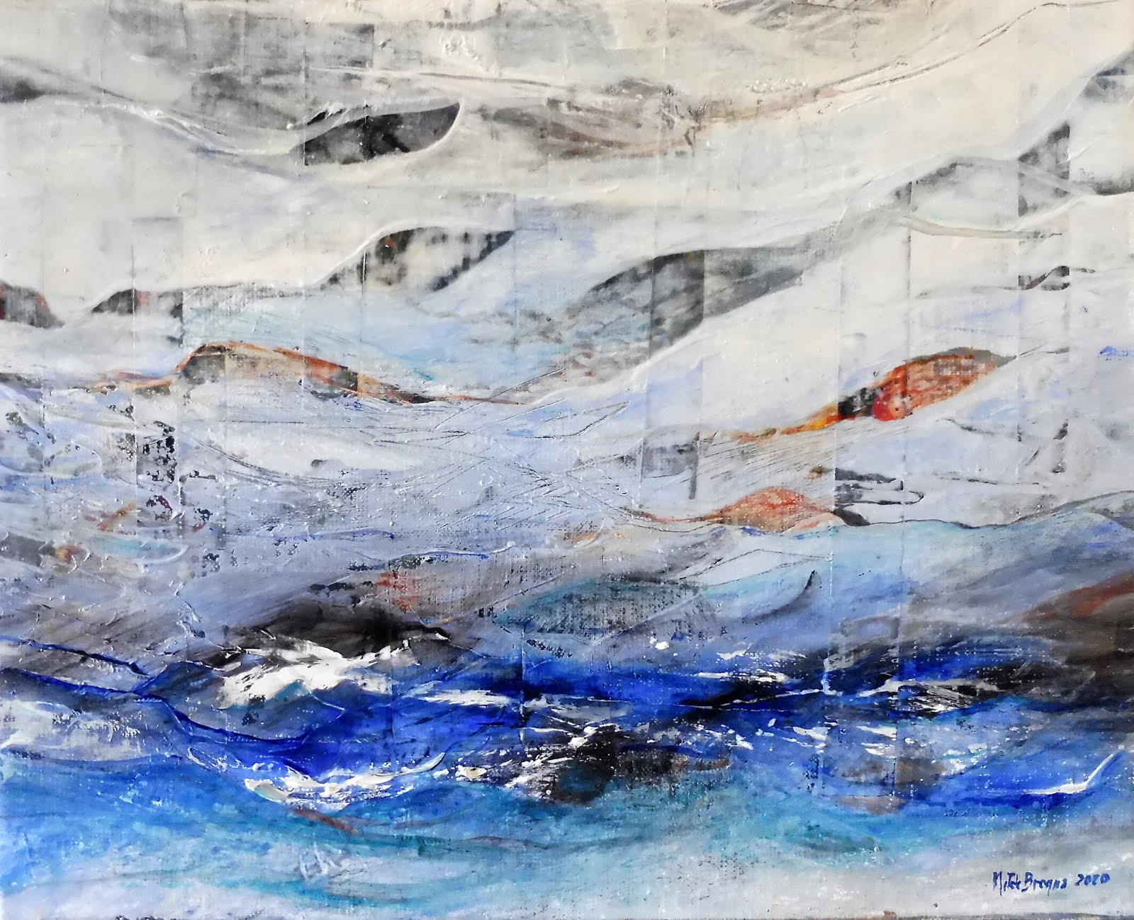 Petites vagues - 41 x 33 cm - 2020
