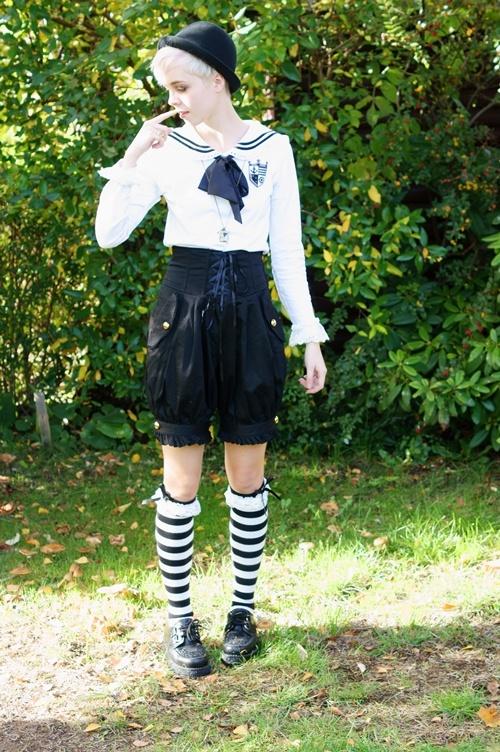 cute fashion sailor lolita dress