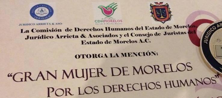 Premio Gran Mujer de Morelos 2015