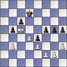 Estudio de Francesc Vivas Font, SEPA 162/3 1954, posición después de 1.Rc5!