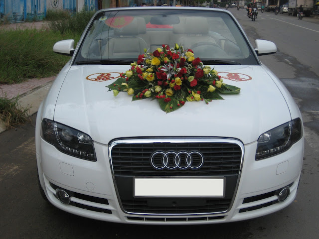 Xe cưới Audi A4 mui trần,xe mui trần