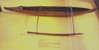 Hawaiian single outrigger canoe model
