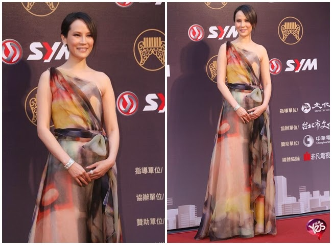 Golden Melody Awards 2014 Naiwen Yang in Paule Ka 2014 SS cf. Fiona Sit