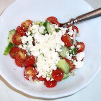 Salade du Tomate et Basilic