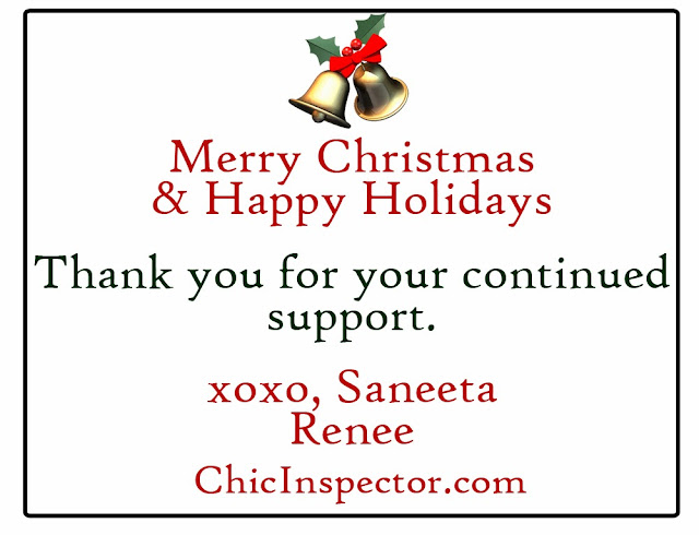 Merry Christmas & Happy Holidays from ChicInspector.com