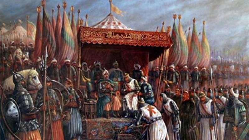 Резултат с изображение за Сирийският султан Саладин превзема Йерусалим