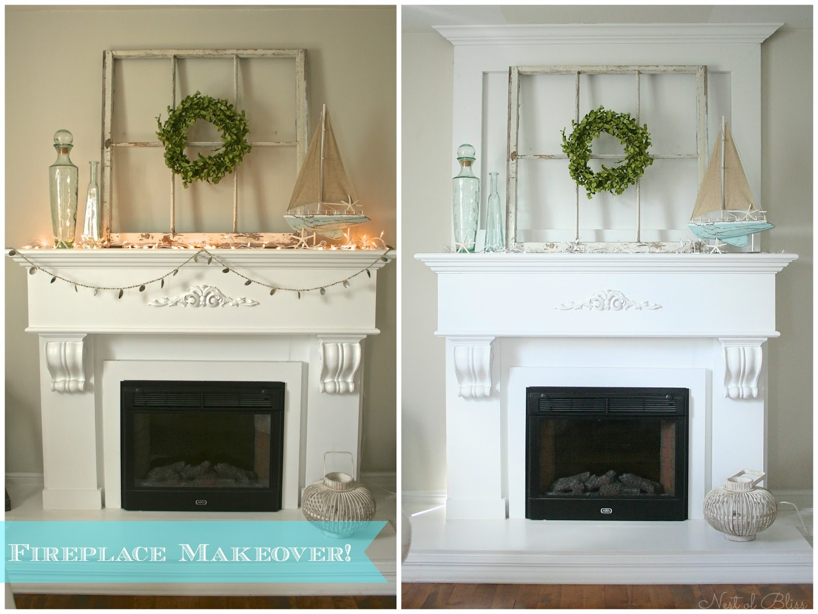 Fireplace Mantel Makeover Nest Of Bliss
