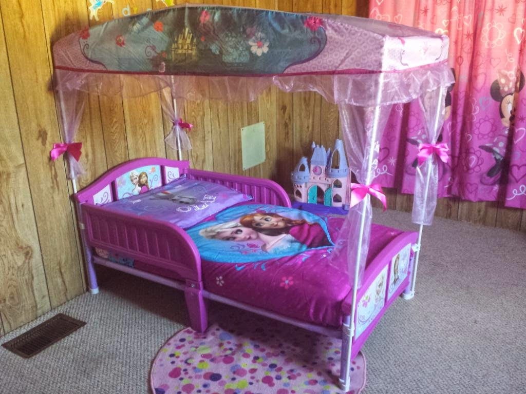 Great Disney Frozen Anna And Elsa Canopy Toddler Bed