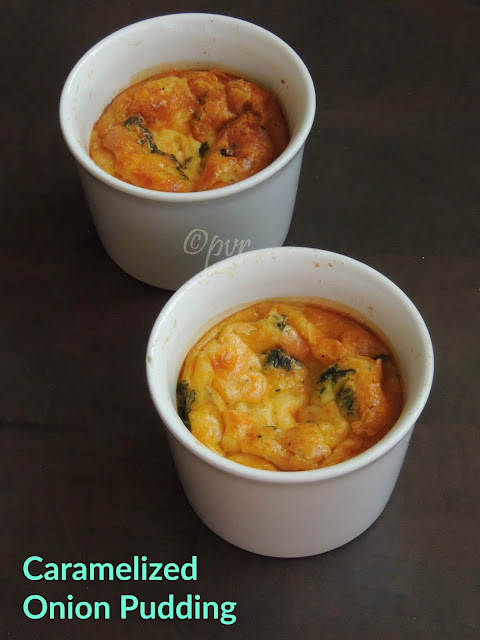 Caramelized onion pudding, Savoury Onion Pudding