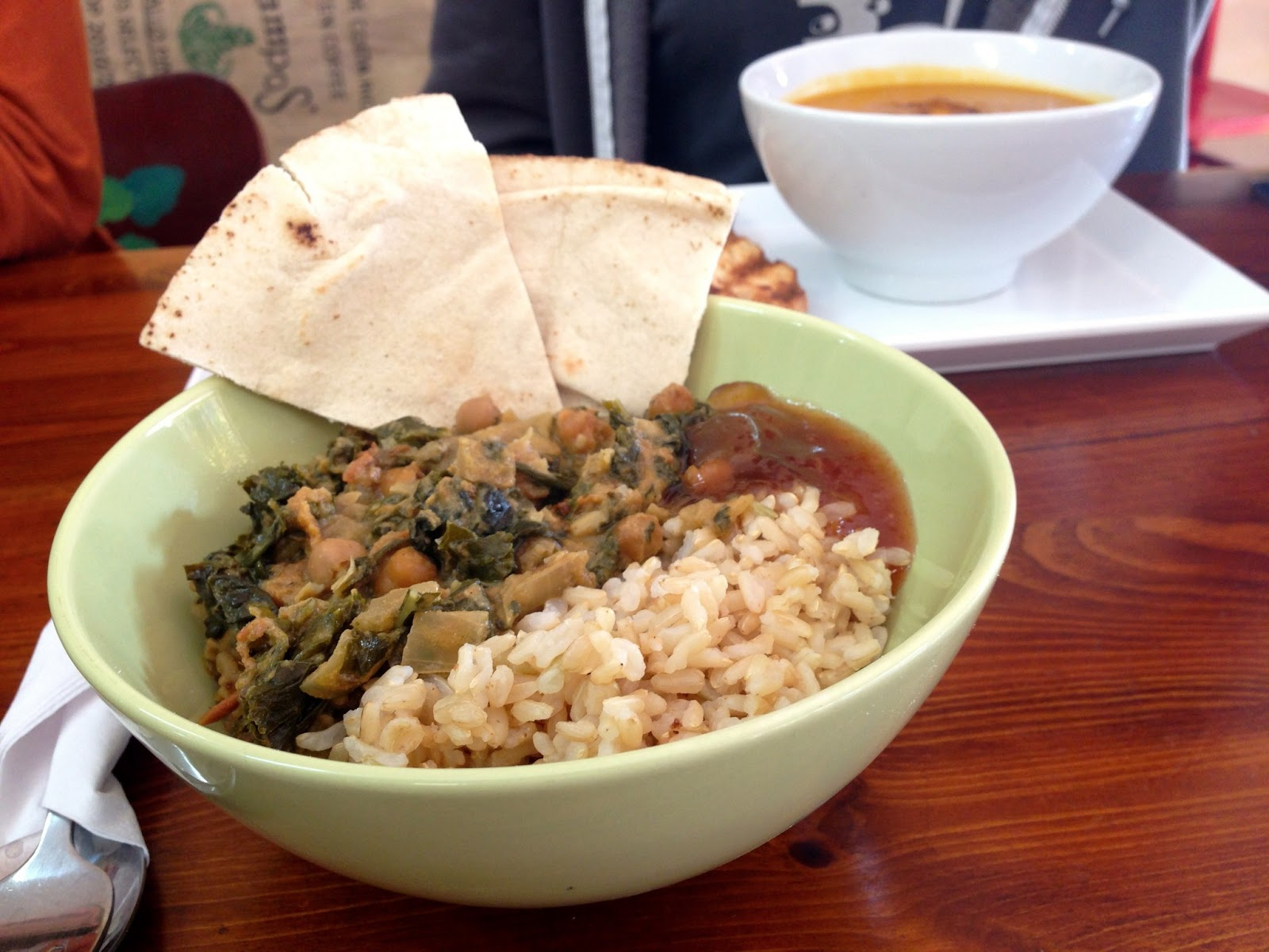 Kale and Chickpea curry - Red Lime Shack, Port Adelaide