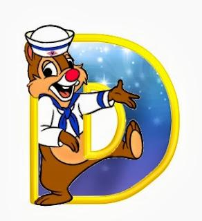 Alfabeto de personajes Disney con letras grandes D Chop.