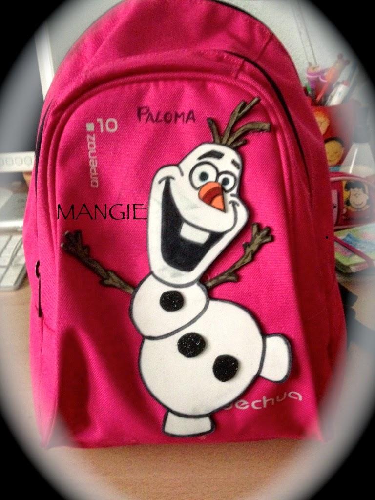 Mochila con Olaf
