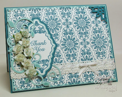 ODBD Ornate Background, Ornate Borders and Flowers, Custom Ornate Borders and Flower Die Set, Custom Fancy Foliage Die Set, Ornate Borders Sentiments, Card Designer Angie Crockett