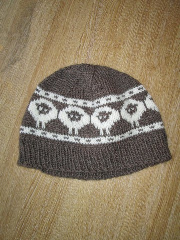 Alpaca Wool Blend Sheep Beanie