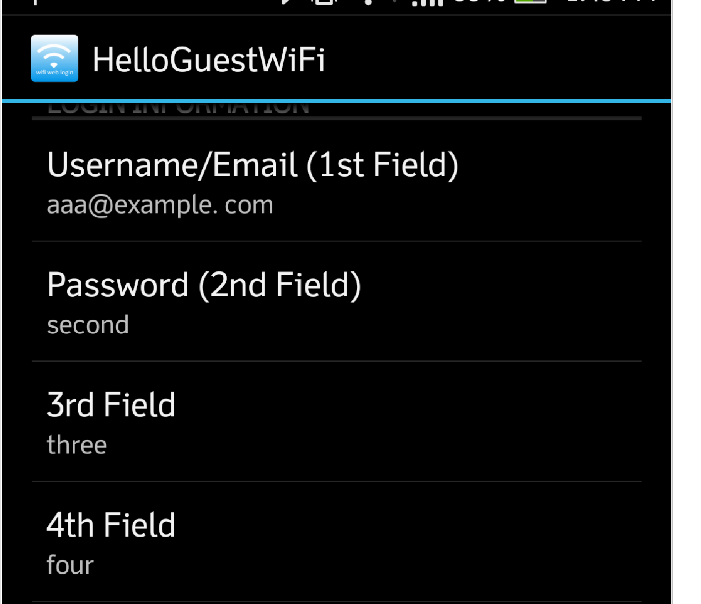 WiFi Web Login