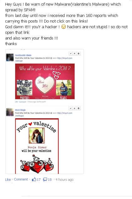 Facebook Valentine app 2014 a new malware