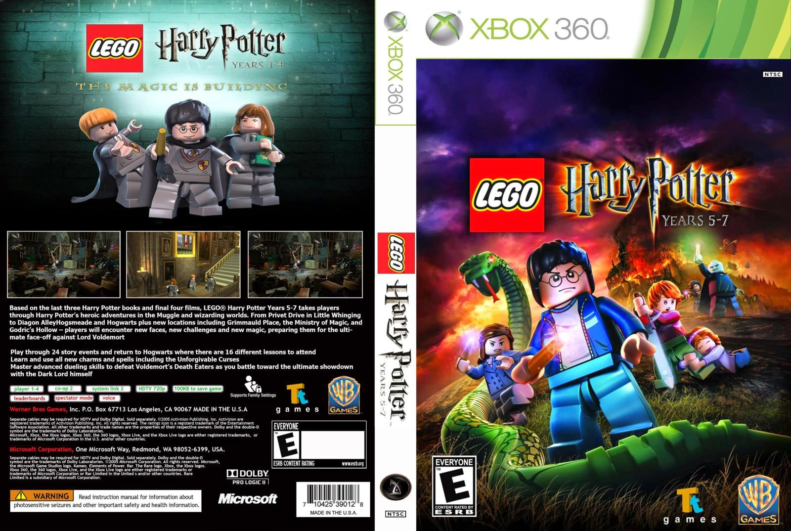 Capa Lego Harry Potter Years 5-7 XBOX 360