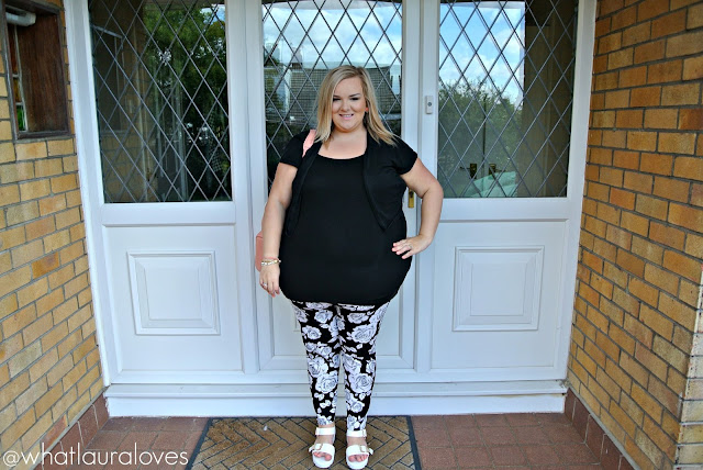 Plus Size Monochrome Outfit Post Blogger Coral Alexander Wang Rockie