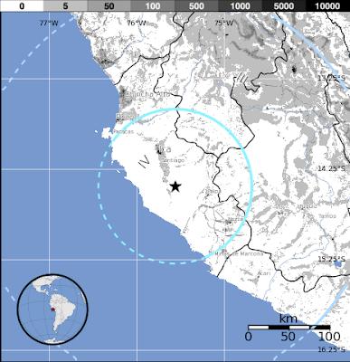 Sismo de 5,7 grados sacude Peru, 02 de Julio 2012