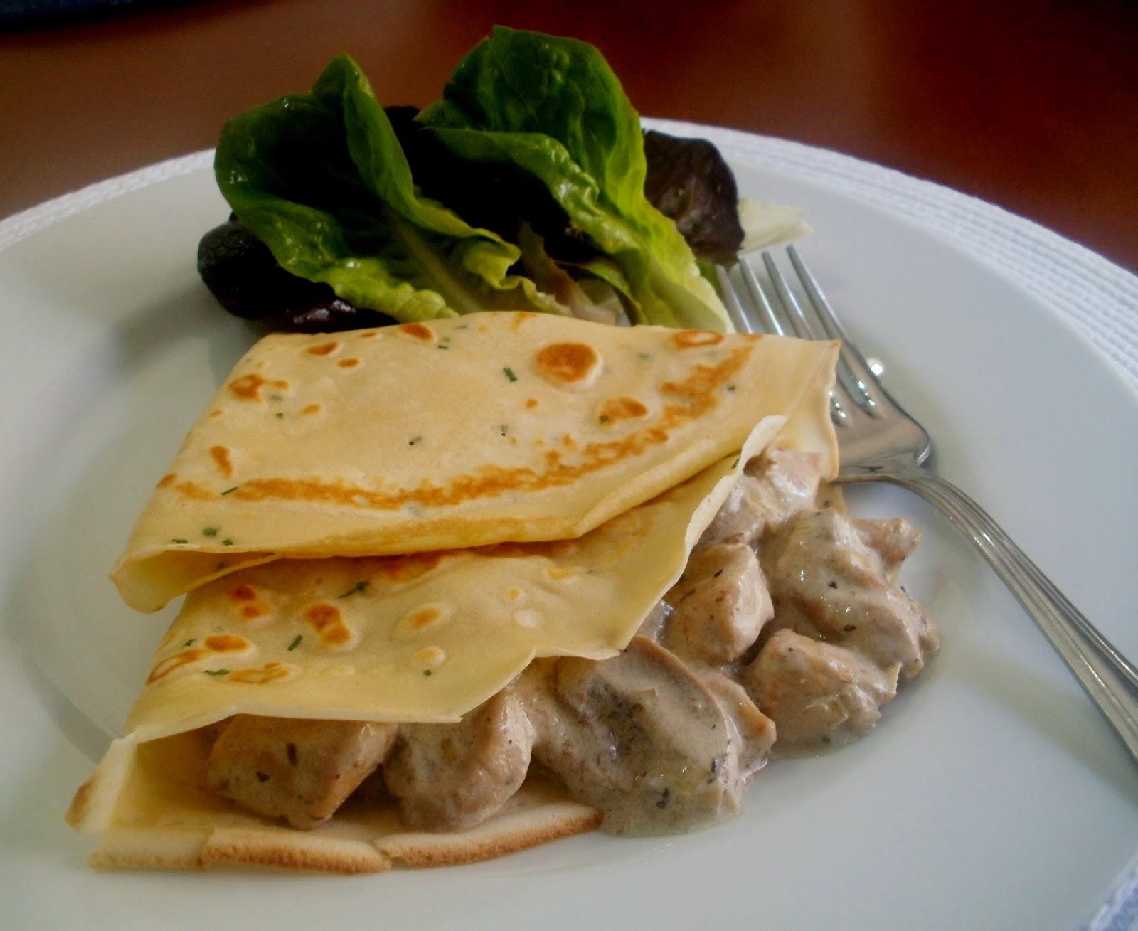 Los antojos de clara crepes con pollo y champi ones for Salsa para crepes