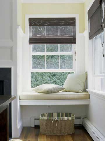 bench a window seat is a great way to add a punch of color to a