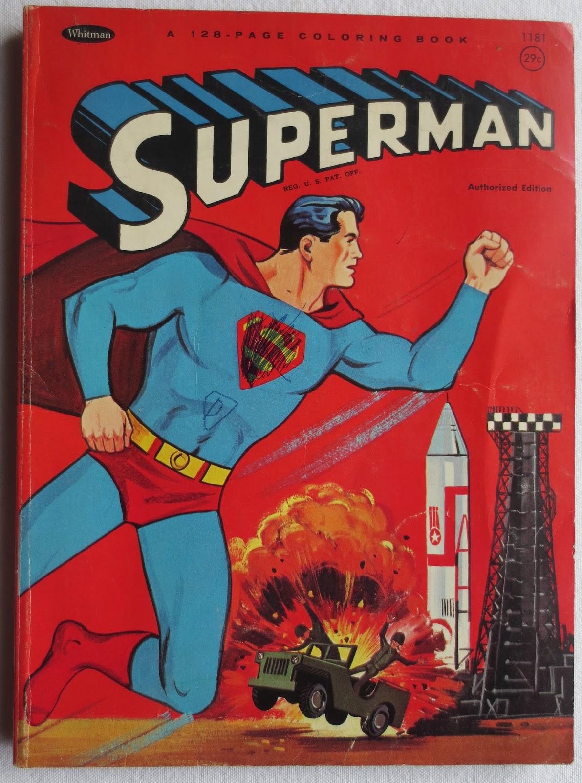 Superman Batman Coloring Books 1965