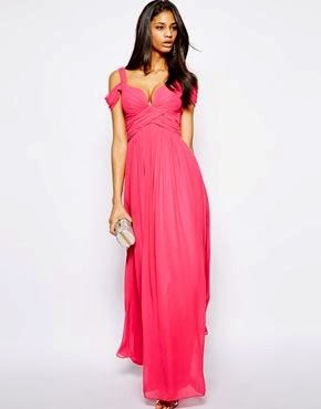 Forever Unique Pink Maxi Dress Asos - Affordable Pink Wedding Dresses