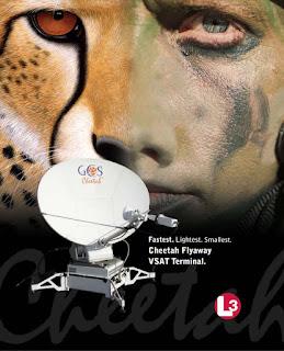Самый быстрый, самый легкий, самый компактный переносной VSAT Cheetah терминал