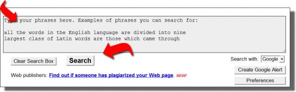PlagiarismChecker.com Sample Screen