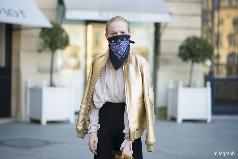 mitograph Hanne Gaby Odiele Paris Fashion Week 2013 2014 Fall Winter PFW Street Style By Shimepei Mito