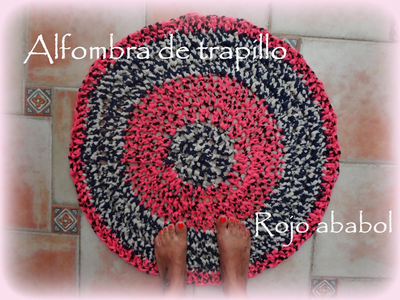 Rojo Ababol Alfombra De Trapillo | Caroldoey